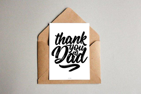 Thank you dad - kunstkort