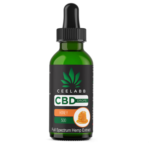 Ceelabb CBD Oil 500mg 30ml (Honey) - Ceelabb CBD Products
