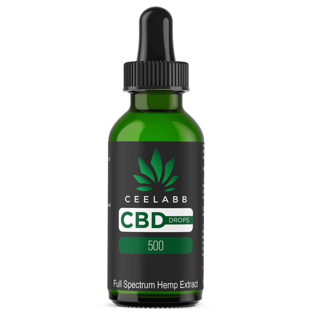 Ceelabb CBD Oil 500mg 30ml (natural) - Ceelabb CBD Products