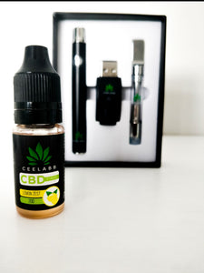 Ceelabb CBD Vape Oil 200mg 10ml  (Lemon Zest) & Ceelabb Vape pen - Ceelabb CBD Products