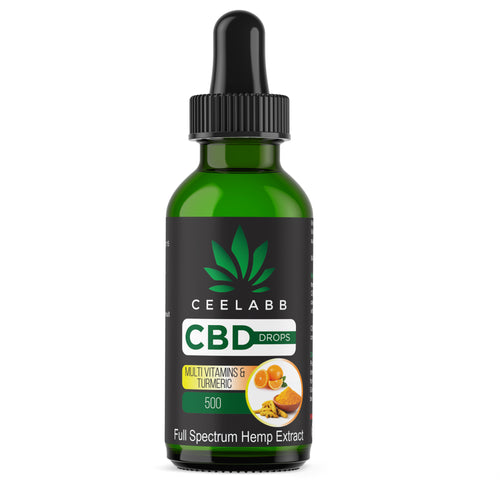 Ceelabb CBD Oil 500mg 30ml (Multi Vitimens & Turmeric) - Ceelabb CBD Products