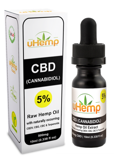 uHemp CBD Hemp oil extract 500mg/5% – (10ml) - Ceelabb CBD Products
