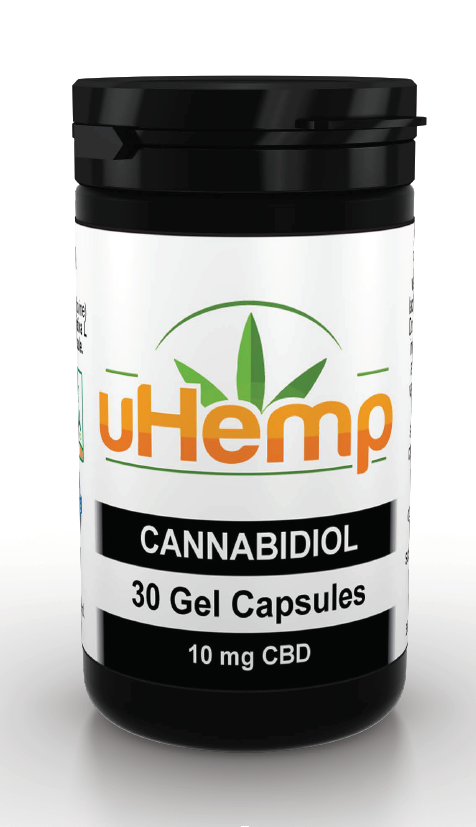 uHemp CBD Soft Gel Capsules – 300mg - Ceelabb CBD Products