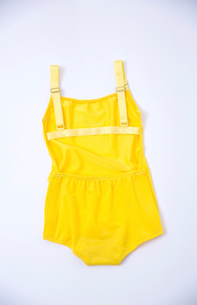 Adaptive Yellow Shorts One Piece