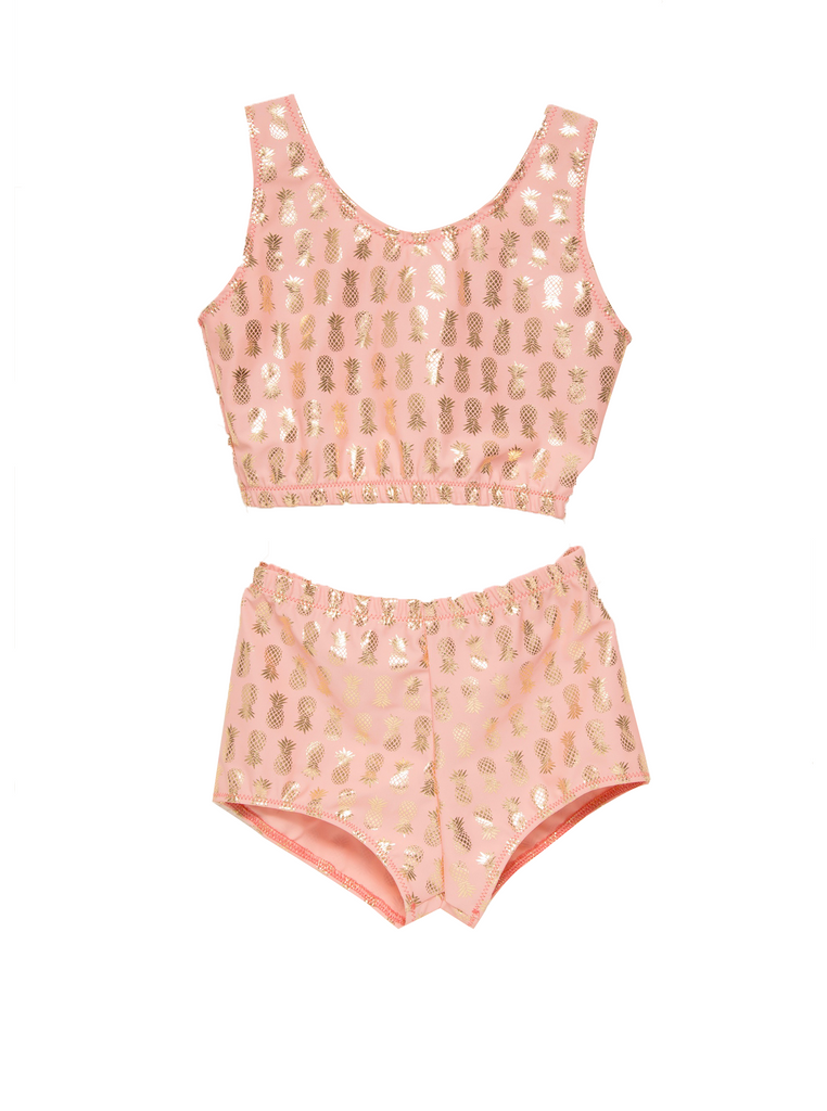 Adaptive Girls Two Piece Pineapple Set