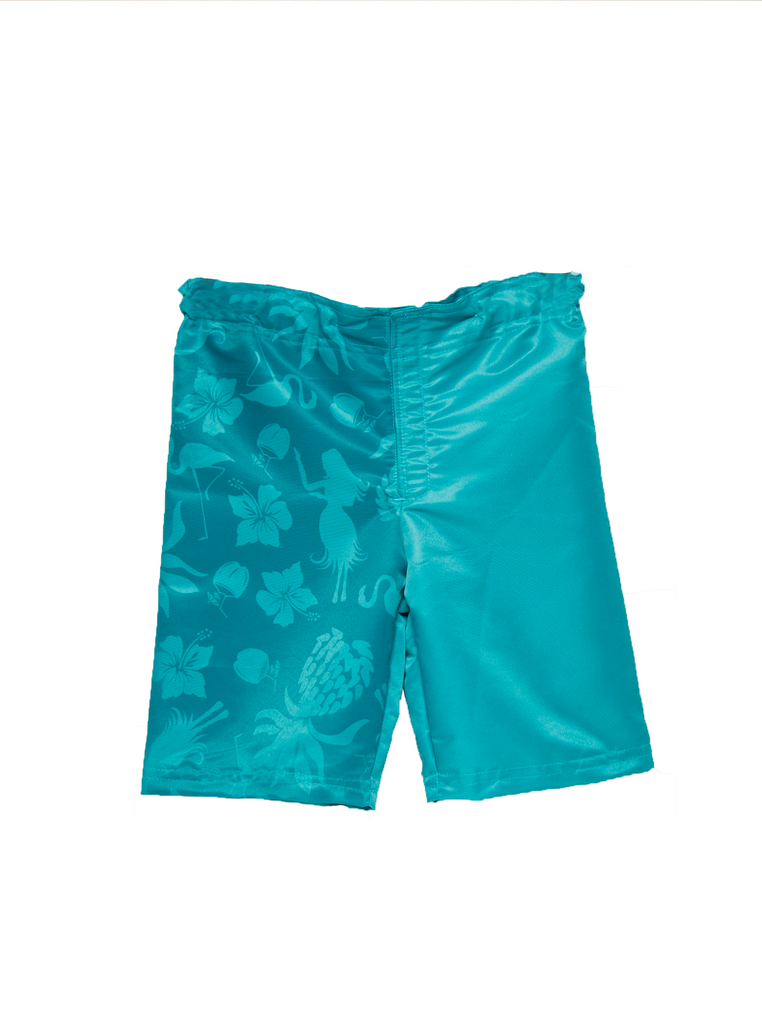 Adaptive Adjustable Water Activated Long Blue Shorts