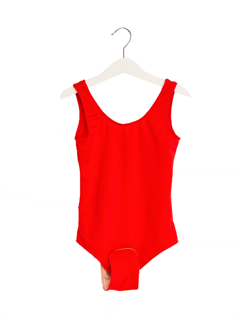 Adaptive Girls Red One Piece