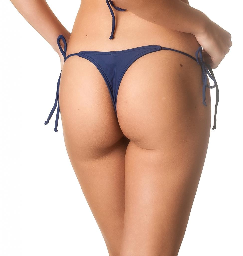 Navy - Teeny Thong Whaletail Bottom