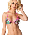 Pink Leopard - Triangle Top Unpadded