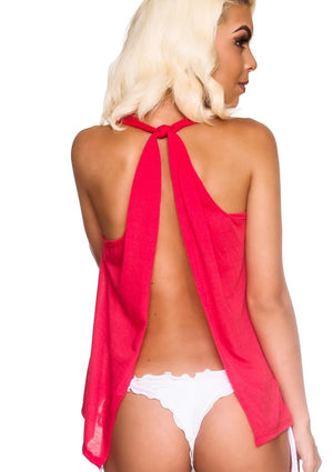 Tank Top Open Back - CORAL