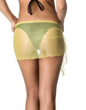 Mini - LightYellow Mesh Sarong