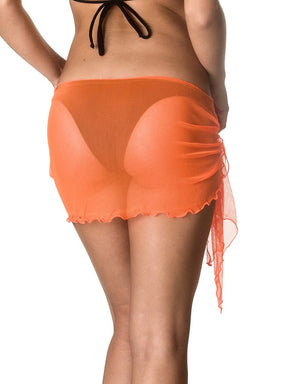 Mini - Orange Mesh Sarong