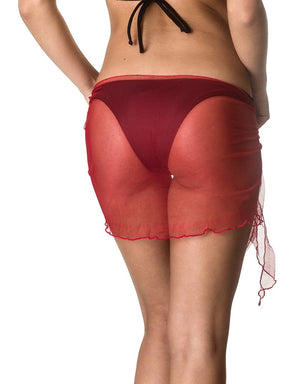 Mini - Red Mesh Sarong