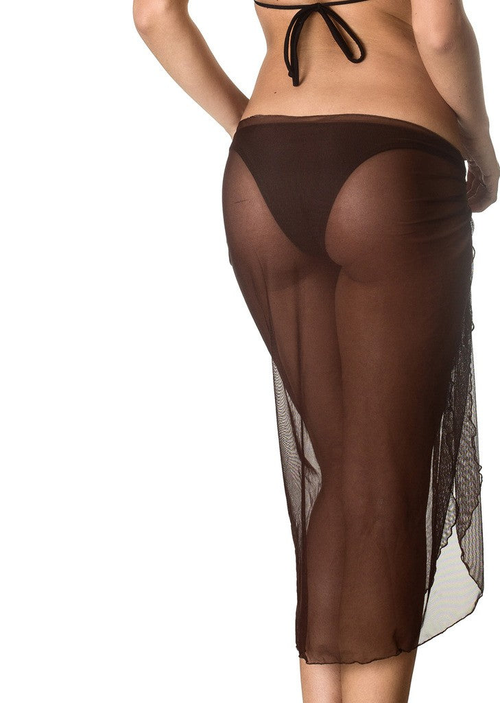 Long Mesh Sarong - Black