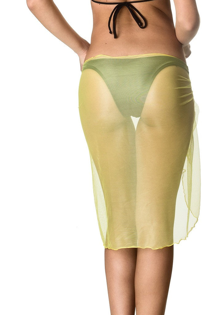 Long Mesh Sarong - LightYellow