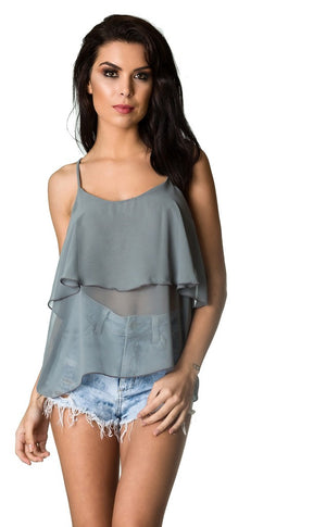 Top Strappy Tank - GREY