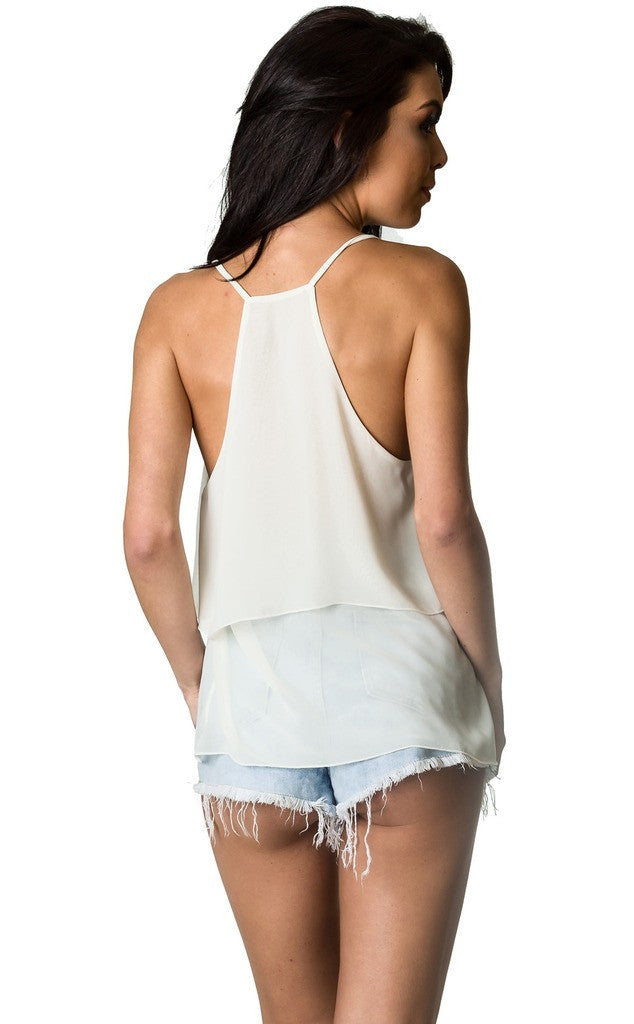 Top Strappy Tank - IVORY