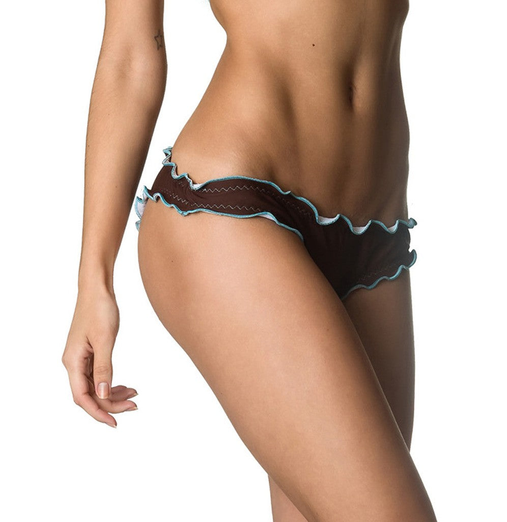Samba Ruffles Bottom & Top SET - Brown