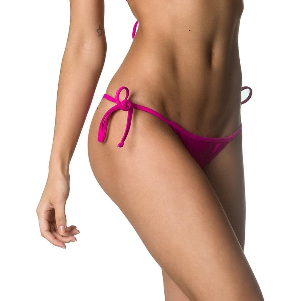 String Tie Side  Bottom - Fuchsia