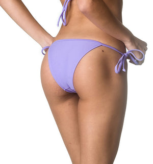 String Tie Side Bottom  & Padded Top SET - Lilac