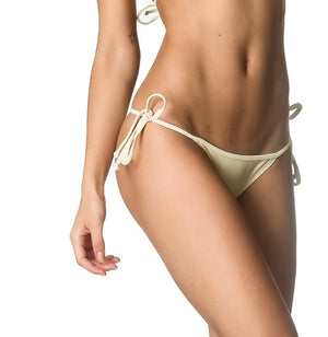 String Tie Side Bottom  & Padded Top SET - Ivory