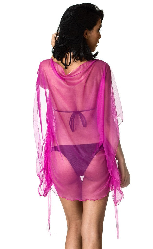 Butterfly Cover Up Dress Fuchsia