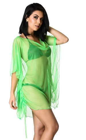 Butterfly Cover Up Dress Green