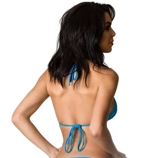 Royal - Blue Reversible Set Thong Bottom & Tri Top SET