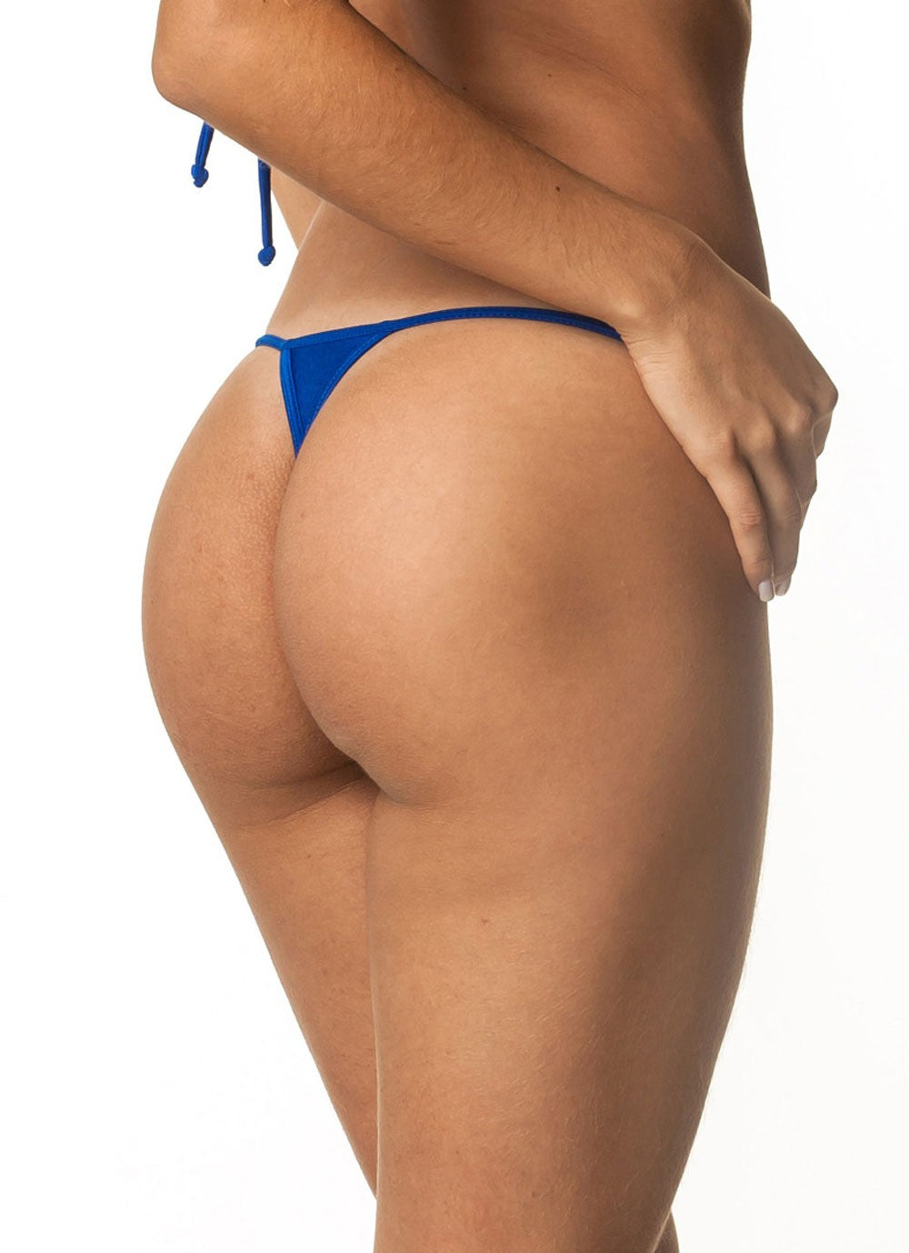 Micro Thong Bottom - Metalic Royal