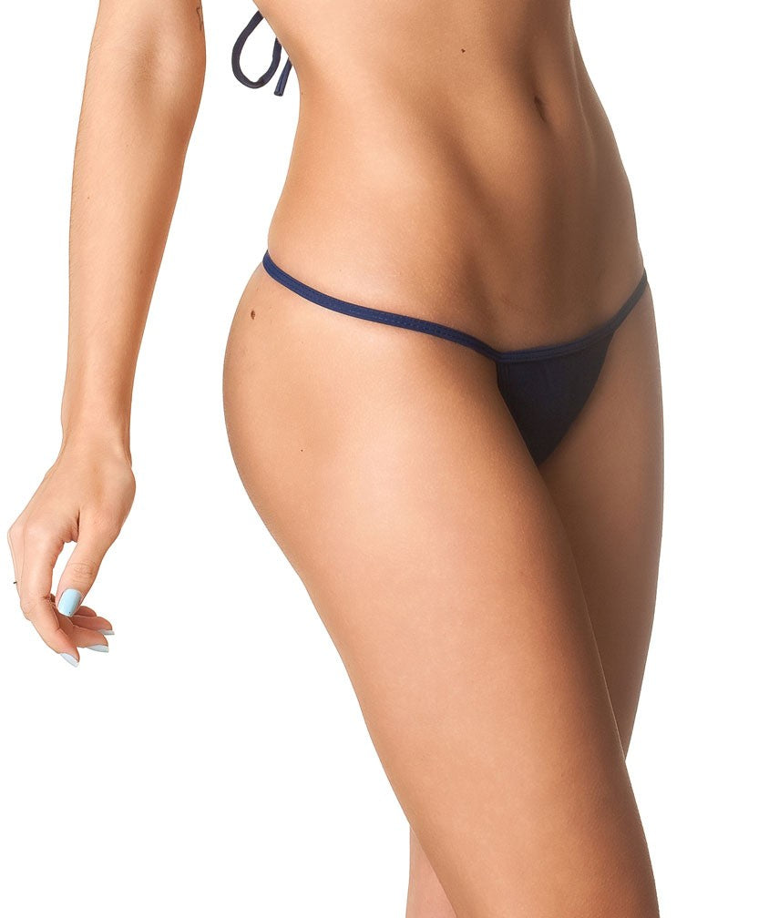 Navy - Micro Thong Bottom