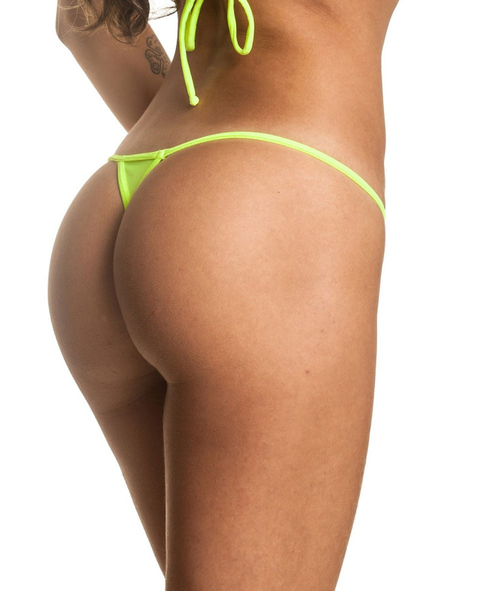 Neon Yellow - Micro Thong Bottom