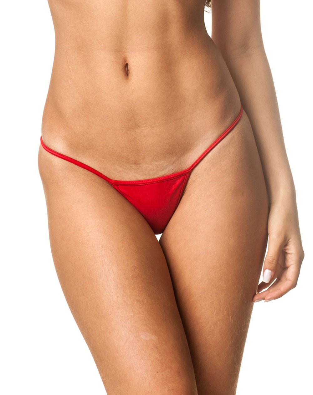 Red - Micro Thong Bottom