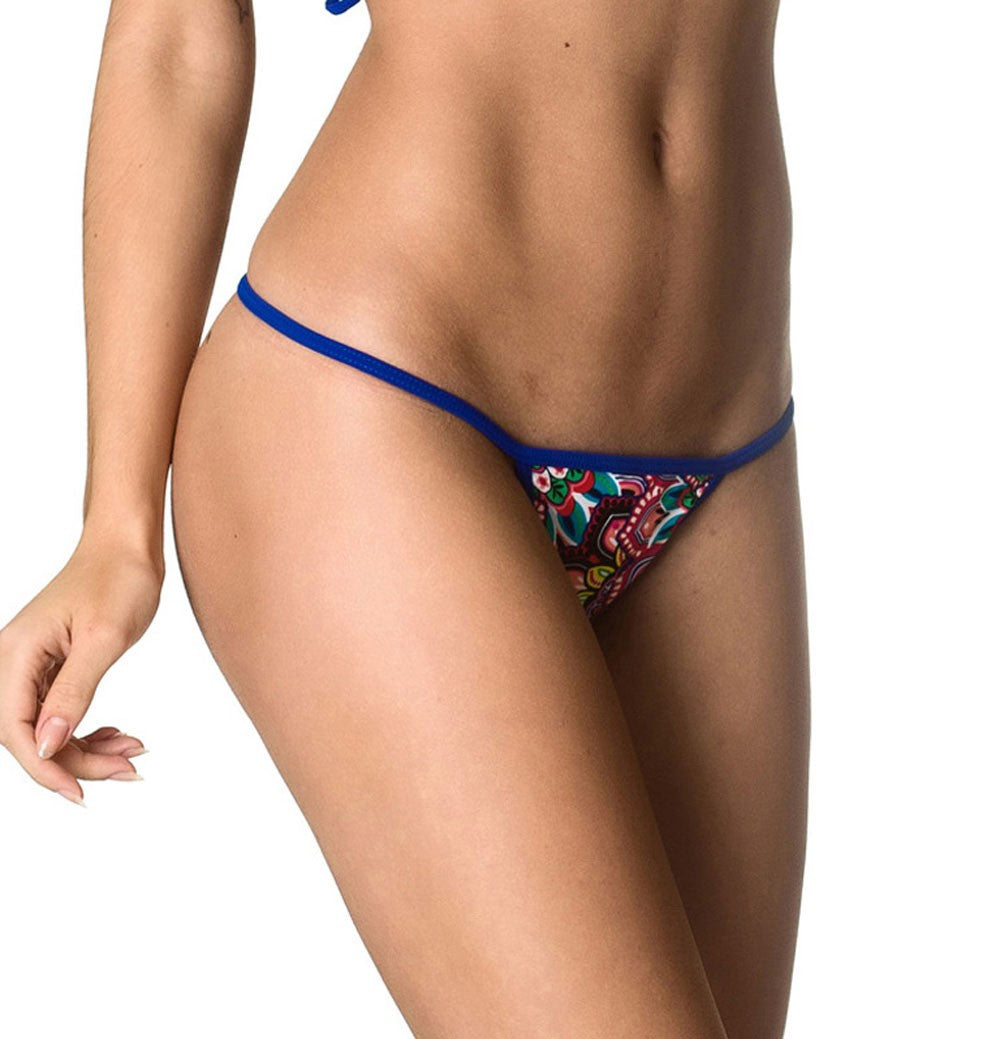 Micro Thong Bottom - Tiki Beach
