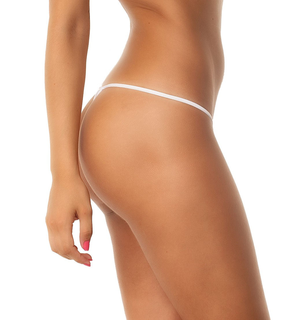 White - Micro Thong Bottom
