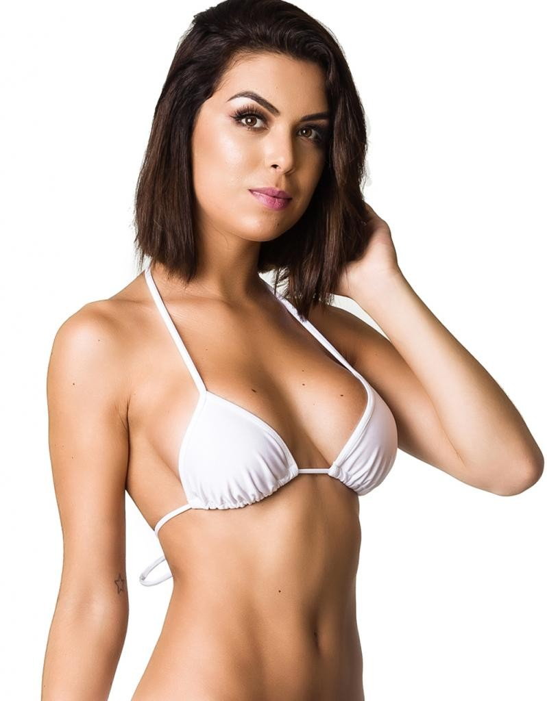 Triangle Top Unpadded  - White