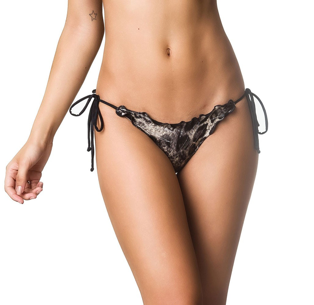 Ruffles Bumbum Bottom - Gray Leopard