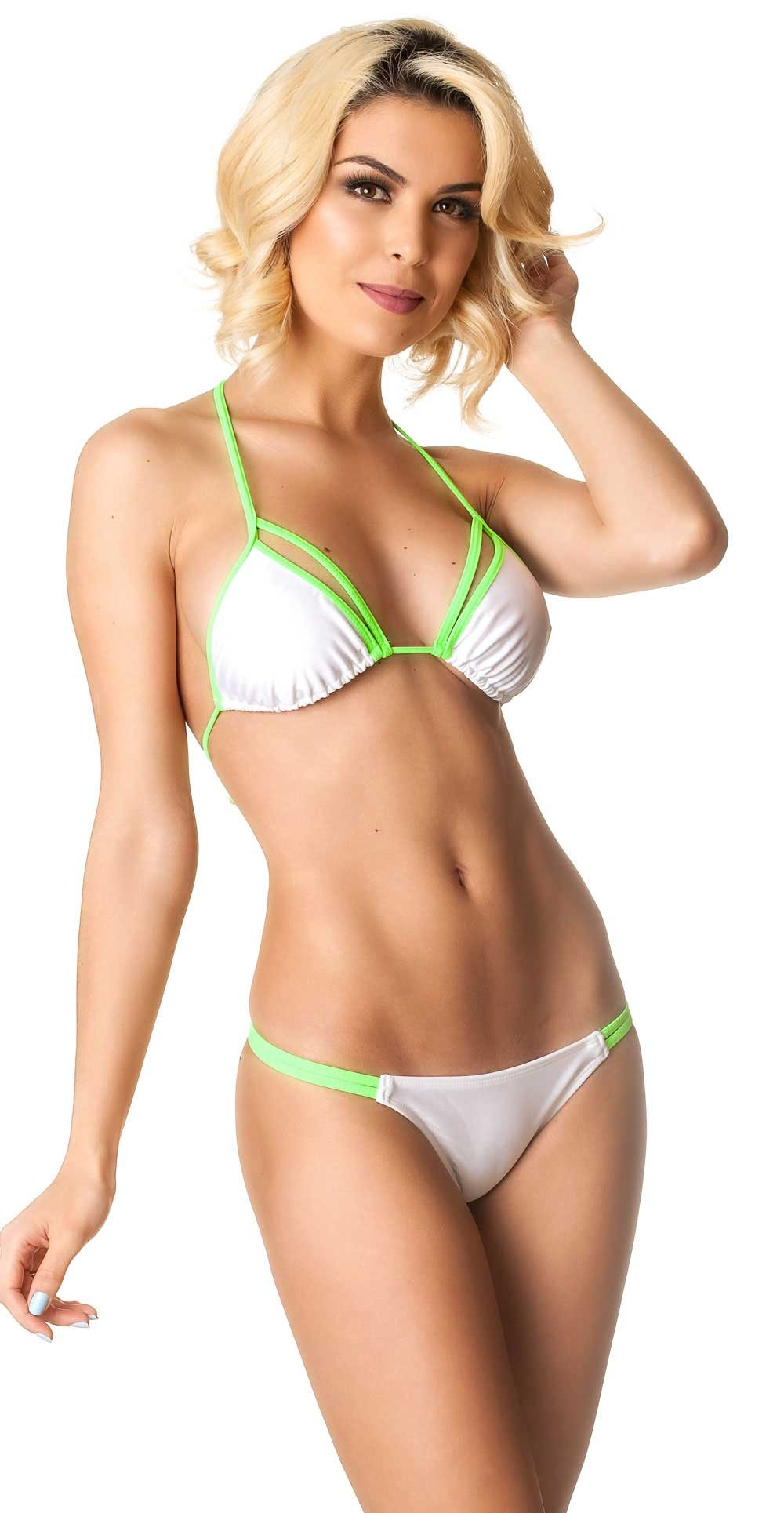 Rumba Bottom & Unpadded Top - White Lime
