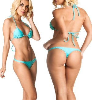 Aqua - Thong Bottom & Tri Top SET
