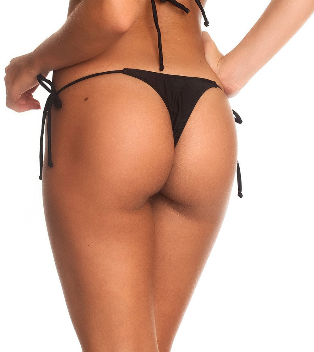 Teeny Thong Whaletail Bottom - Black