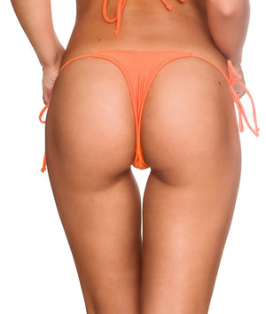 Teeny Thong Whaletail Bottom - Orange