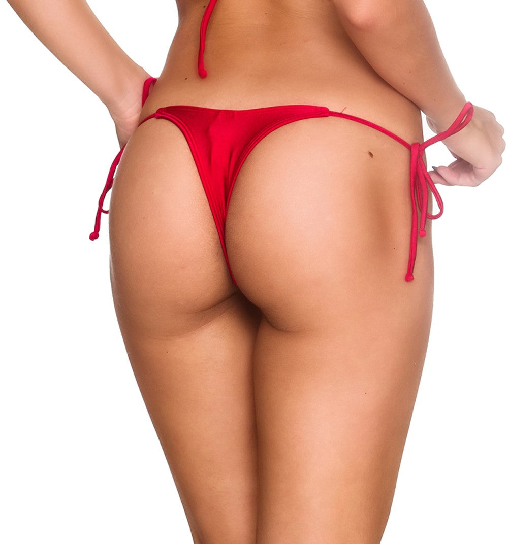 Teeny Thong Whaletail Bottom - Red