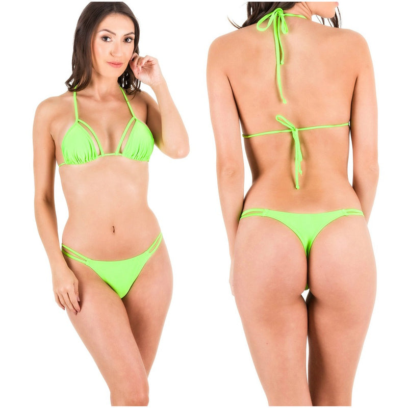 Rumba Bottom & Unpadded Top - Neon Green