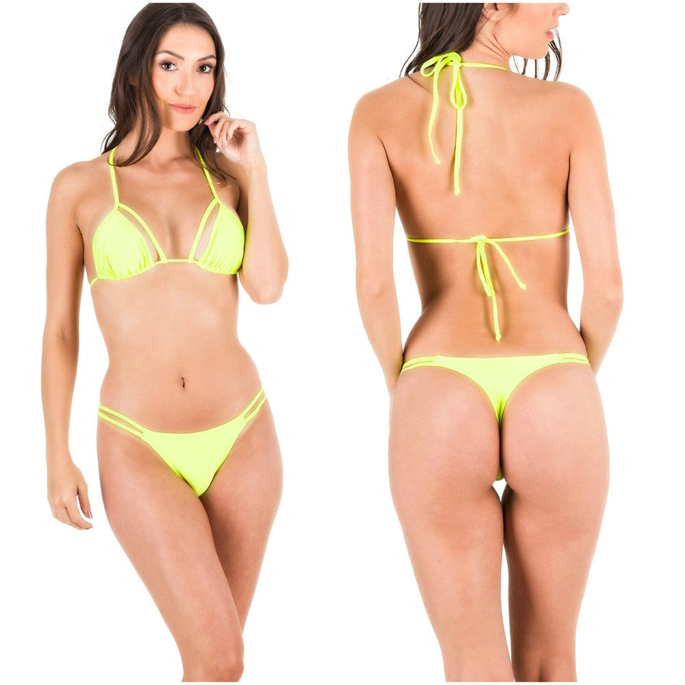 Rumba Bottom & Unpadded Top - Neon Yellow