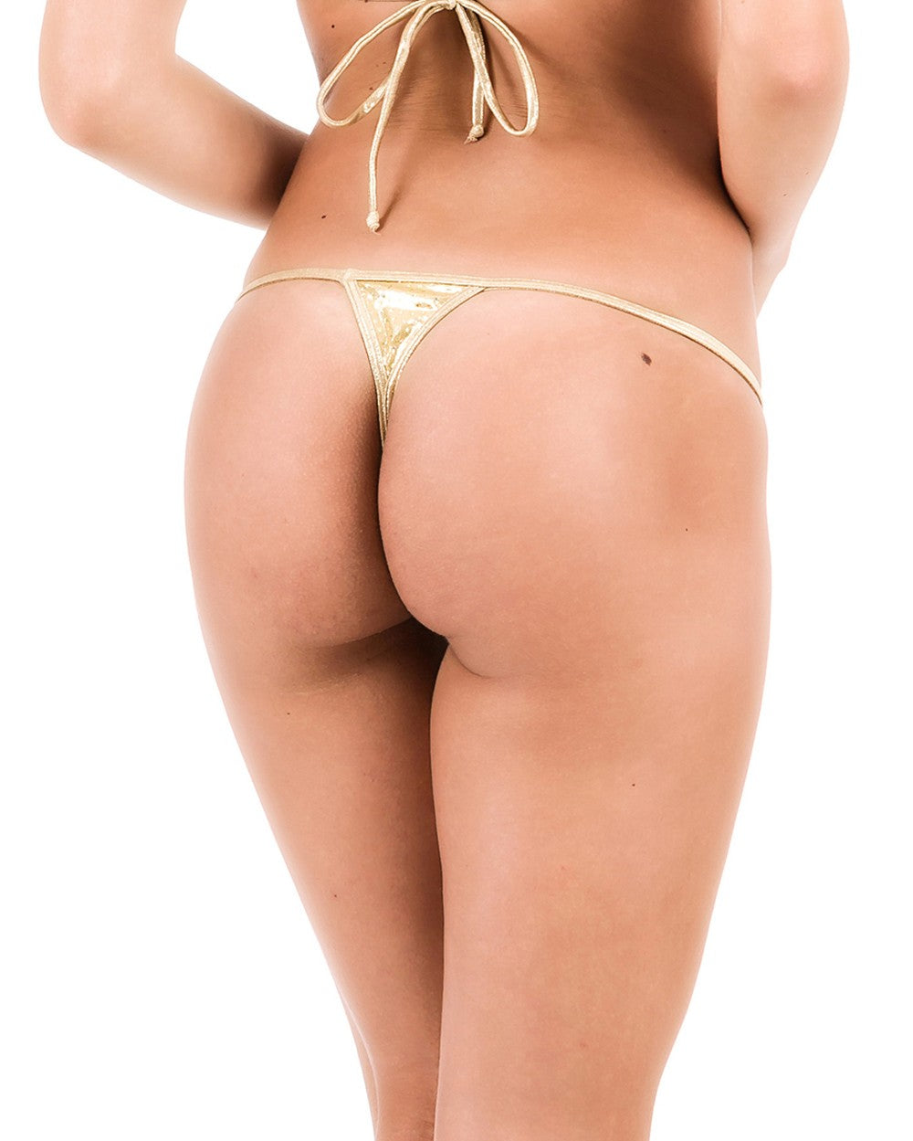Gold Sequins - Micro Thong Bottom