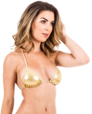 Sequins Gold - Triangle Top Unpadded