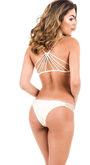 Strappy Bottom & Unpadded Top - Ivory