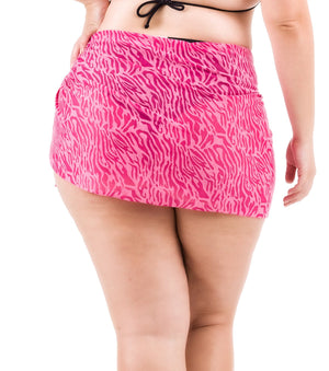 Plus Size Burnout Sarong - Pink