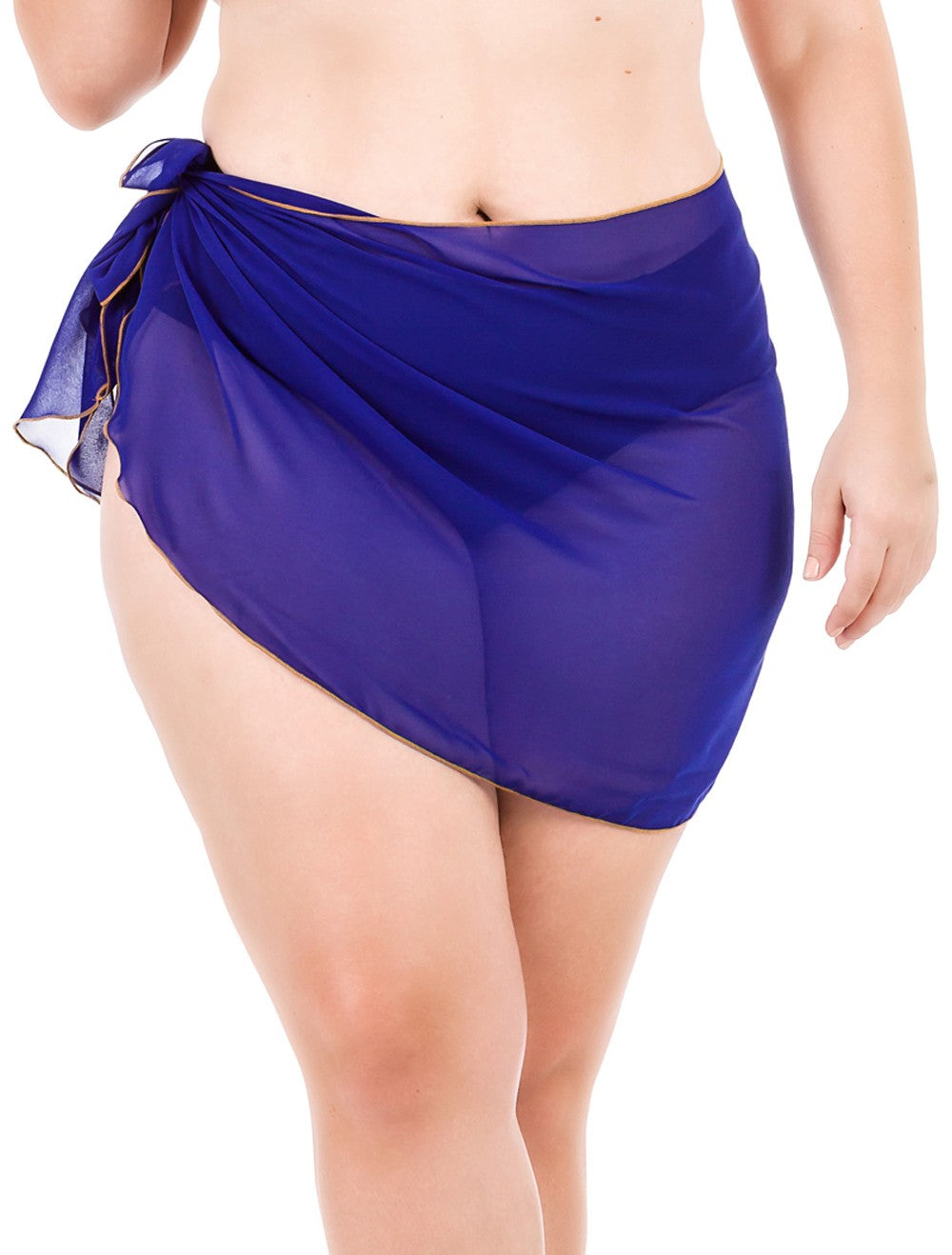 Plus Size Chiffon Sarong - Royal