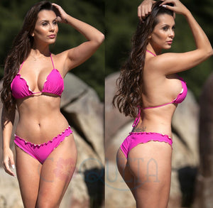 Samba Ruffles Bottom & Top SET - Fuchsia