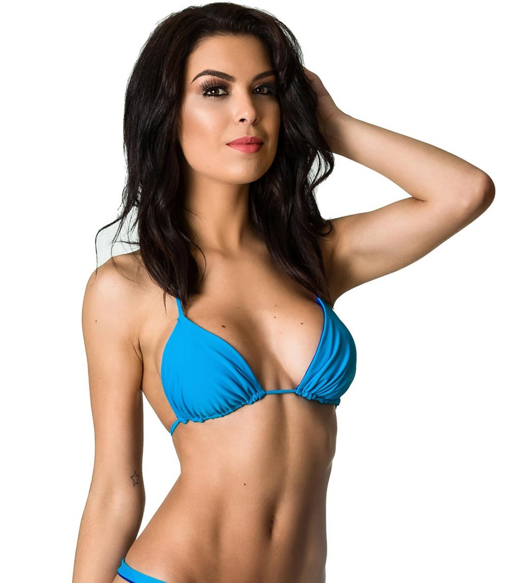 Turquoise Royal - Unpadded Brazilian Triangle Top